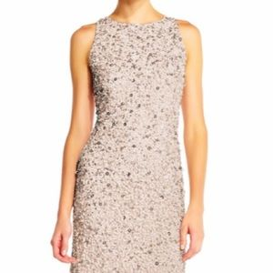 Adrianna Papell Halter Sequinned Dress
